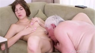 Rita pays old guy with hot fuck