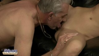 Old man analsex with slutty young girl