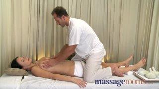 Massage Rooms - Big natural tits oiled up
