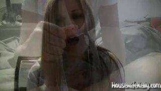 Beautiful Housewife gives a Great Handjob