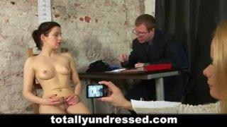Secretary's kinky job interview