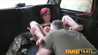 FakeTaxi Short haired redhead fucked