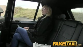 FakeTaxi Blonde with glasses does sex tape