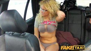 FakeTaxi Geeky blonde takes a pounding
