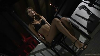 Aspen hard fucked and spanked in basement