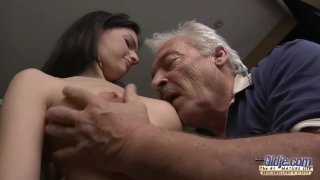 75 yo grandpa fucks young sewer girl