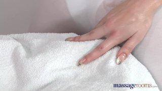 Massage Rooms Blonde masseuse screams