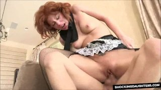 Redhead Maid Fucked Rough In Her Uniform