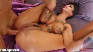 EvilAngel Bonnie Rotten DP'd and SQUIRTING