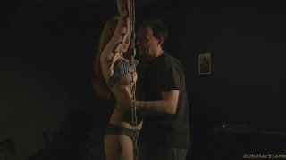 Abigail whipped in chains and used for fuck