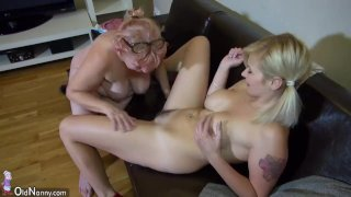 OldNanny Young and old lesbian couple masturb