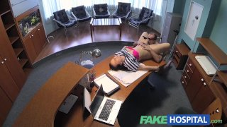 FakeHospital Back pain cured by doctors cock