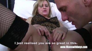Mature Blonde Stepmom Ass Spanking Her Stepso
