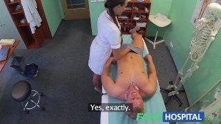 FakeHospital Nurse gets a mouthful of cum