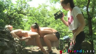 Girlfriends Three babes outdoor fun part one