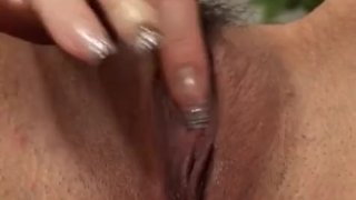 Rina Kangi fingers her brown pussy
