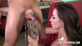 Ariella Ferrera Fucks & Drinks Cum