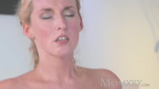 MOM Stunning Milf sucks and fucks stud dry