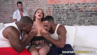 Brooklyn Chase Fucks Two Black Guys To Please