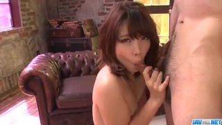 Small tits, Yura Kurokawa, pleases two fat di