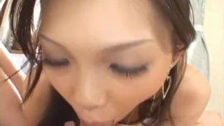 Mimi sucks and strokes shlong like a bitch