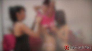 Three Hot Thai Girls Lesbian Action