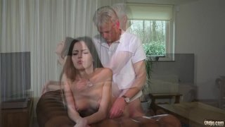 Grandpa Fucking Teen Pierced Tongue Facial