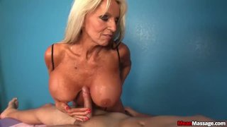 Experienced lady dominant handjob