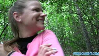PUBLICAGENT — Невинная девушка занимается сексом в лесу