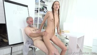 Student Paris Devine fucked by old teacher