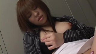 Solo babe has a pointy nipple syndrome since she wanked