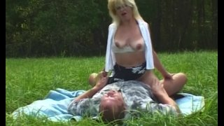 MILF Blonde Picked-Up And Fucked In Open Field