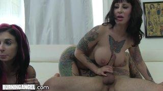 BurningAngel Big Titty MILF Webcam Threesome!