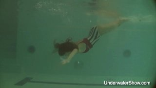 Erotic underwater show of Natalia