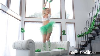 Tiny4K Festive busty Alexis Adams fucks her bf on St Patricks day