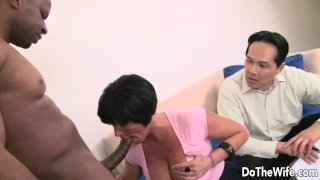 Shay Fox Brunette wife takes large black cock