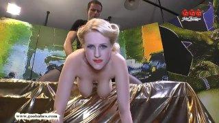 Angel Wicky big Natural Tits cum covered - German Goo Girls