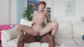Wife takes big black dick up her ass for her husband