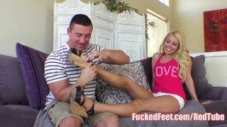 Cutie Aaliyah Love Get Feet Fucked in Hot Foot Fetish Video!