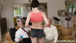 Old man young girl outdoor Frannkie goes