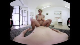 Katerina Hartlova rubs cock with her monster juggs