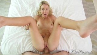 PureMature Blonde MILF Laura Bentley toys pussy in bath before big dick fuc