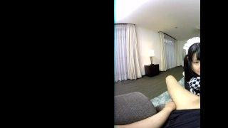 ZENRA VR Japanese AV star Azuki maid handjob