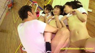 Cute Jav Idol Teens Bibi Yuna Ayu Fucked In The Gym Petite Gits With Small