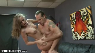 WhiteGhetto Skinny StepDaughter Wants Daddy Dick