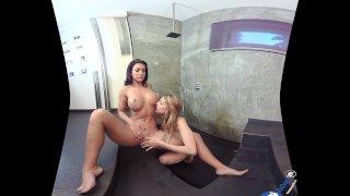BaDoink VR Lesbian Sex Action Under The Shower VR Porn