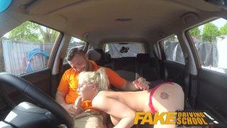 Fake Driving School - Большегрудую блондинку оттрахали и забрызгали спермой очки