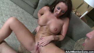 AdultMemberZone - Busty lady gets a big load on her melons