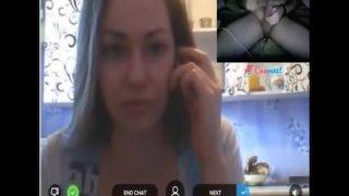 Reacciones de nenas al ver mi polla en la Web Cam 19