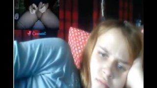 Reacciones de nenas al ver mi polla en la Web Cam 27